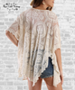 Lace Dolman Sleeve Tunic - Natural
