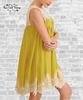 Sleeveless Lace Dress - Goldenrod