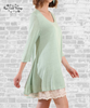 Lace Trim Tunic Dress - Sage