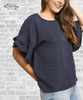 Ruffle Sleeve Crepe Top - Polka Dot