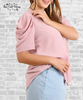 Puff Sleeve Top - Dusty Pink