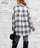 Plaid Pullover Tunic Top - Gray