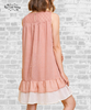 Tiered Crochet Dress - Blush