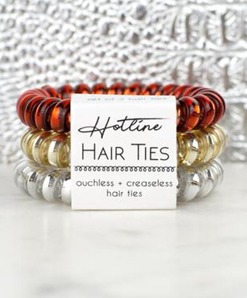 Hotline Hair Ties Set - Fire & Gold