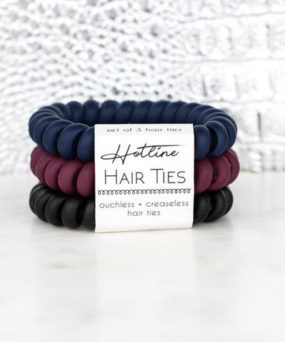 Hotline Hair Ties Set - Ivy League Matte
