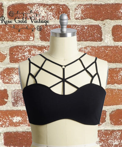 Caged Bralette - Black