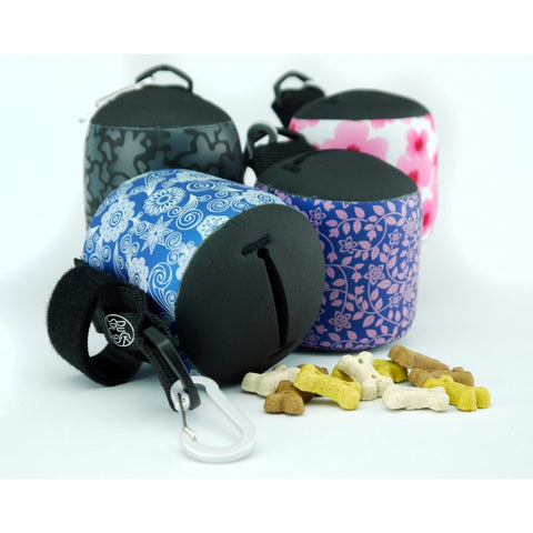 Blue Flower Dog Treat Bag
