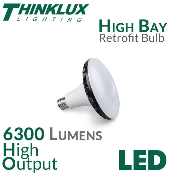 Picture of Thinklux LED High Bay Retrofit Bulb - Replacement for HPS/Metal Halide - EX39 Base - 6300 Lumen - Must bypass existing ballast - 1