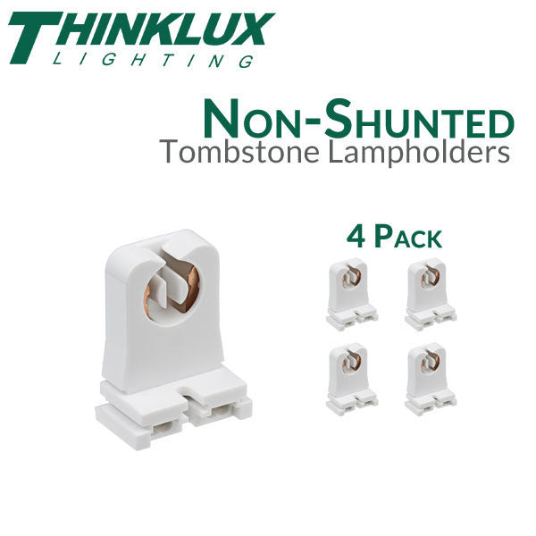 Picture of Thinklux Non-Shunted Rapid Start Tombstones for LED T8 Conversions - 4 Pack - 1
