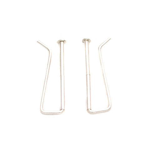 Silver Ear Climbers, Silver Ear Pins, Skinny Bar Earrings