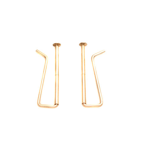 Skinny Gold Earrings, Skinny Bar Earrings, Gold Bar Earrings