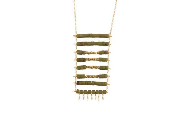 jade and brass kaleem pendant necklace