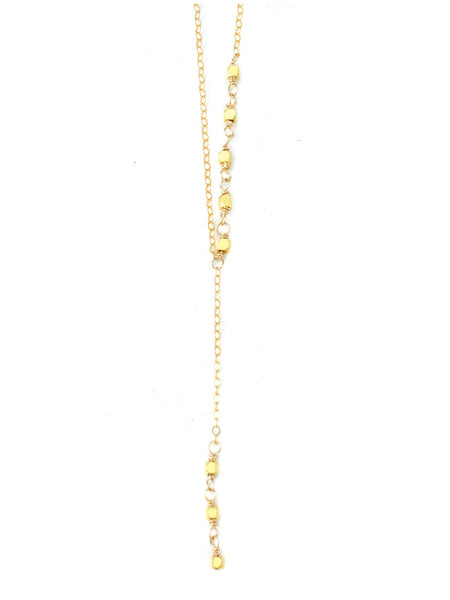 Delicate Lariat Necklace, Rosary Necklace, Y Necklace, Gold Lariat Necklace, Delicate Rosary Necklace, Delicate Layering Necklace