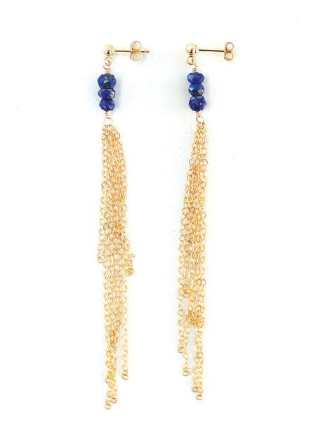 Sharuna Gemstone Dangle Earrings