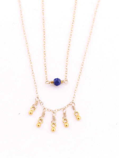 Sol Gold Dangle Layering Necklace