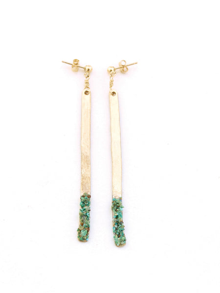 Sura Turquoise Bar Earrings