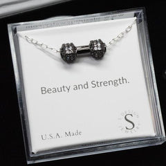 Barbell necklace