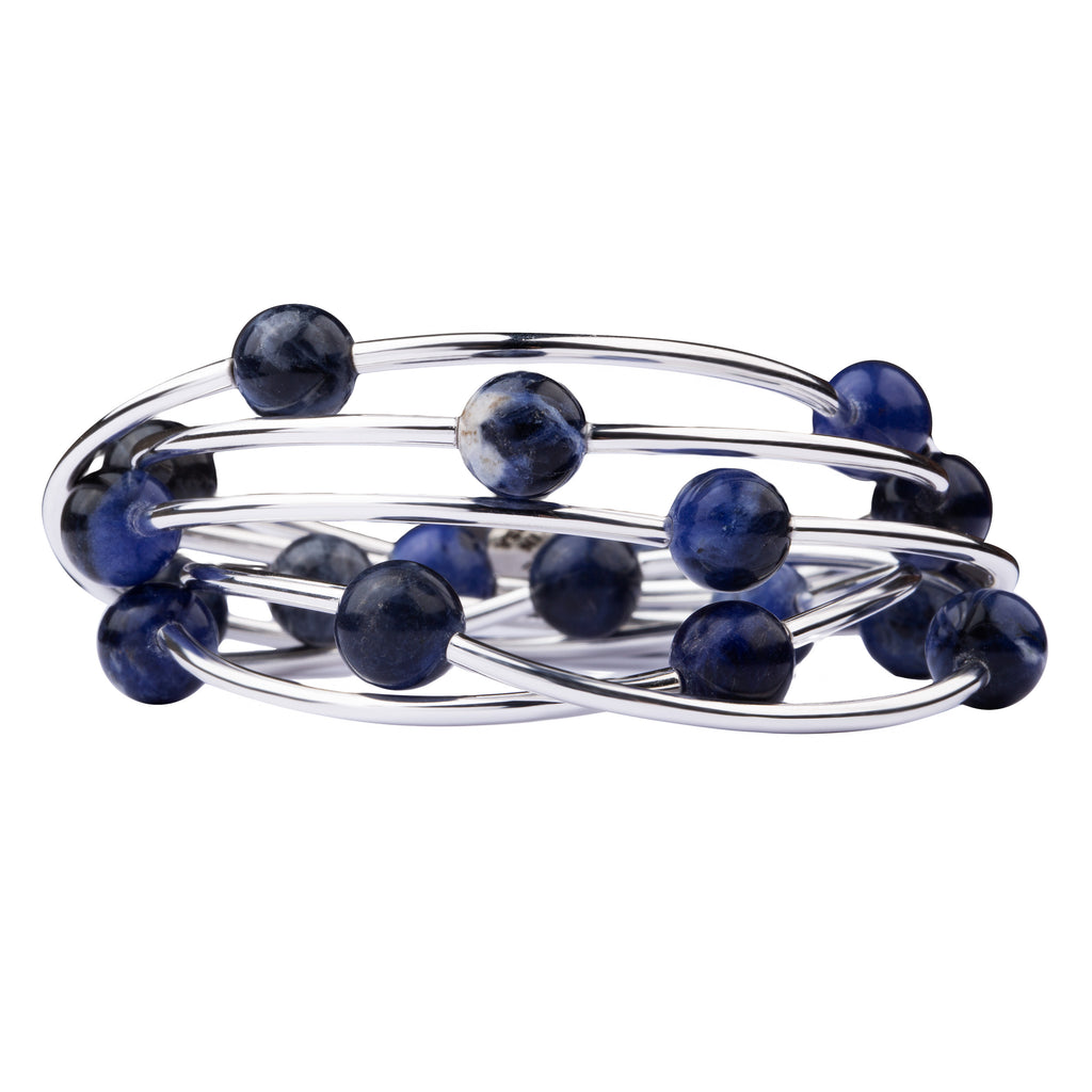 Wrap | Stone | Necklace-Bracelet | Sodalite