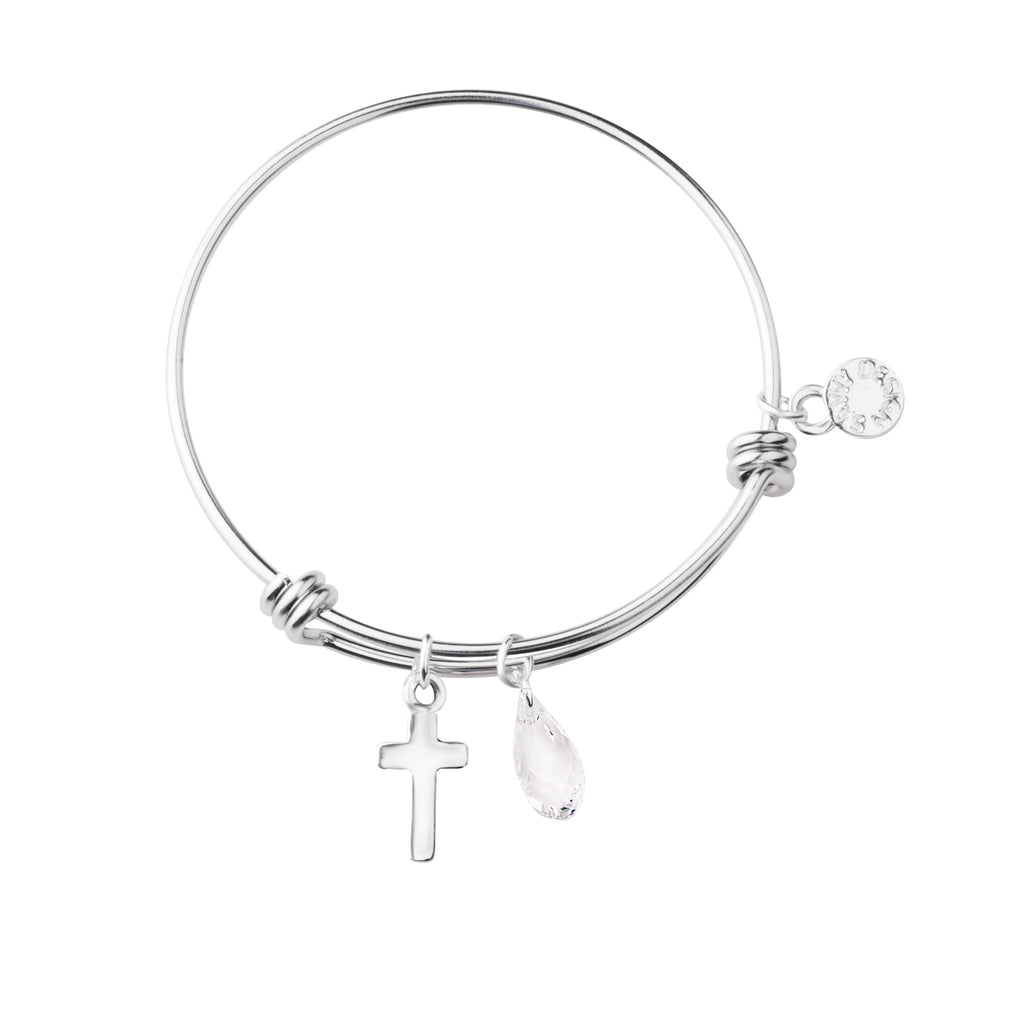 First Communion Cross | Expandable Wire Bangle