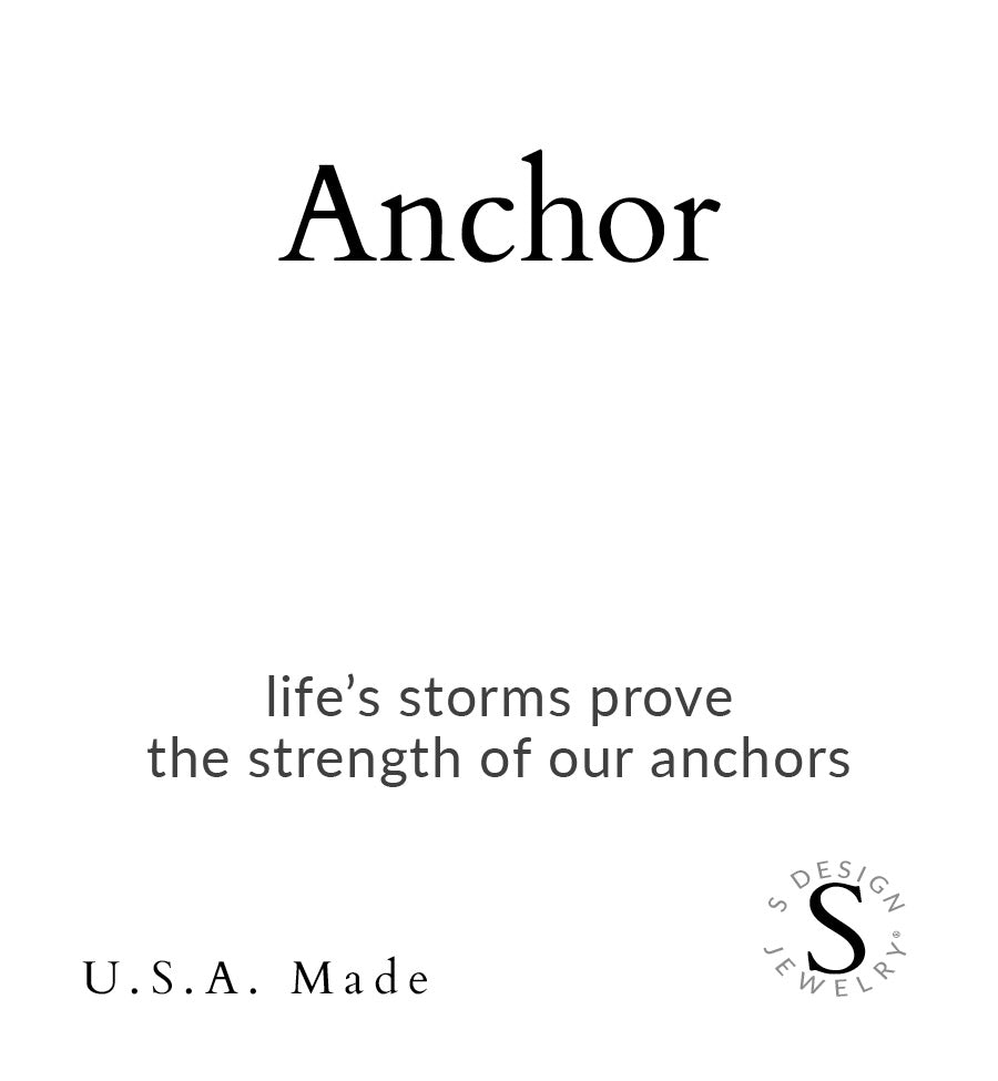 Anchor | Soft Bangle Charm Bracelet | Hematite