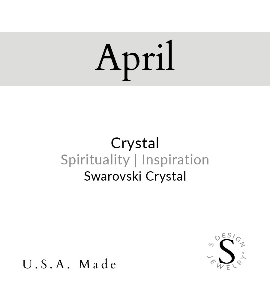 Birthstone | Necklace | April - Crystal
