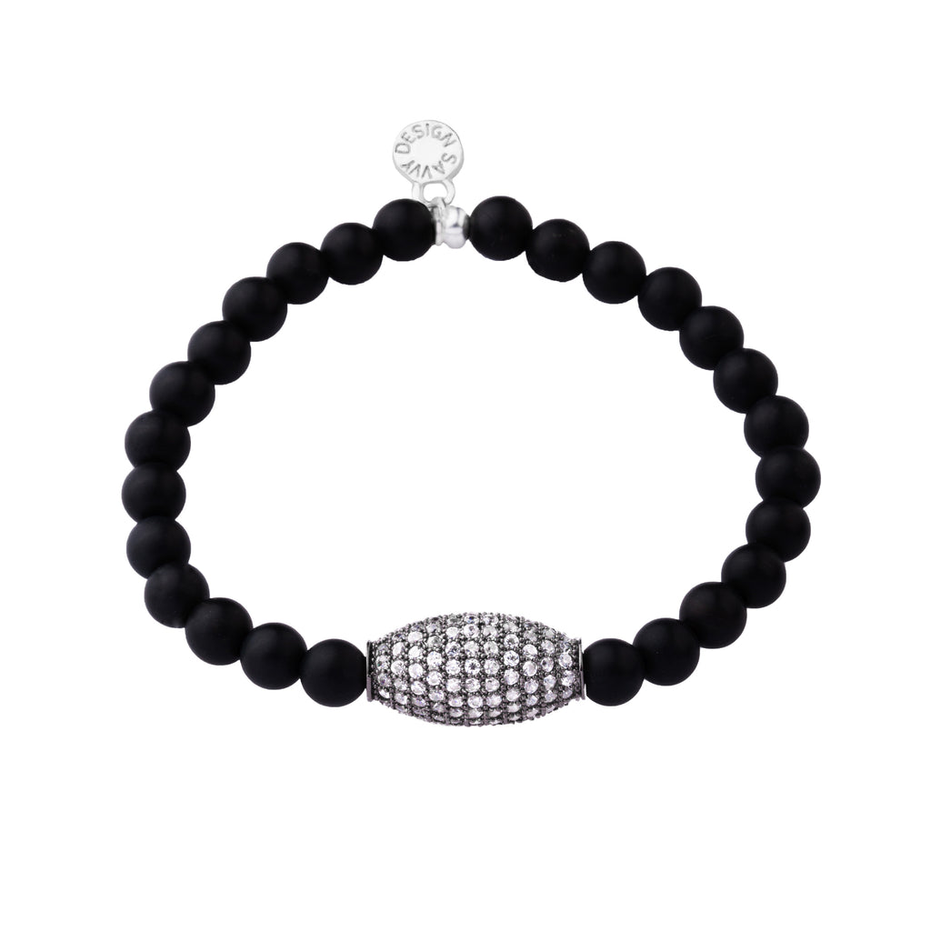 Pave Bead | Little Layer Bracelet | Matte Onyx - Intention | Ox