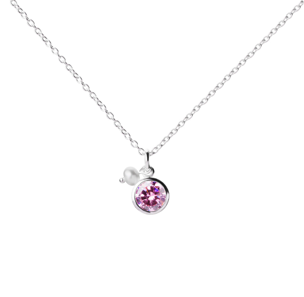 Birthstone | Necklace | October - Rose