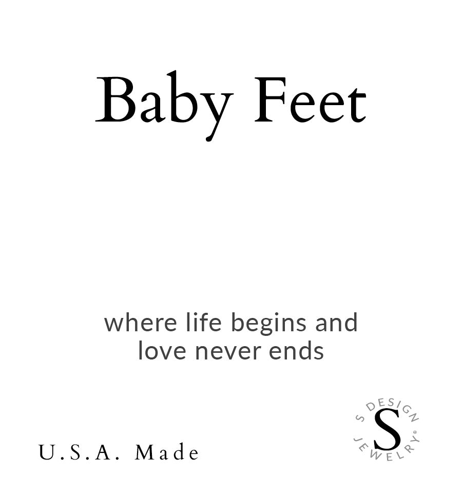 Baby Feet | Little Layer Necklace | Sterling Silver