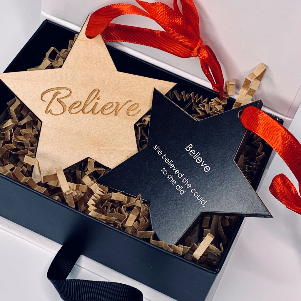 "Ornament | Believe - ""She believed she could..."""
