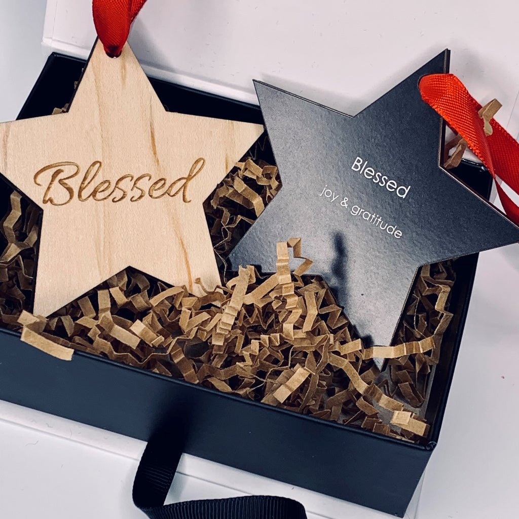 "Ornament | Blessed - ""joy & gratitude"""