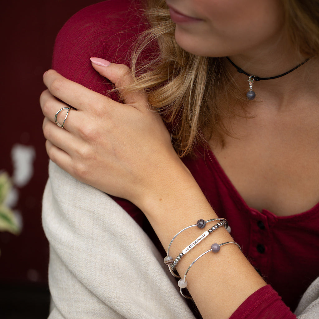 Copy of Wishing Stone | Bracelet | Silver - Crystal