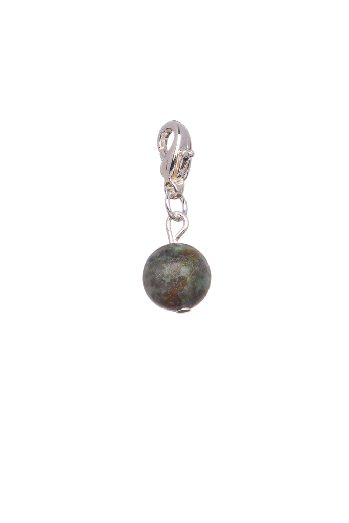 African Turquoise Natural Stone - Charm - Prosperity