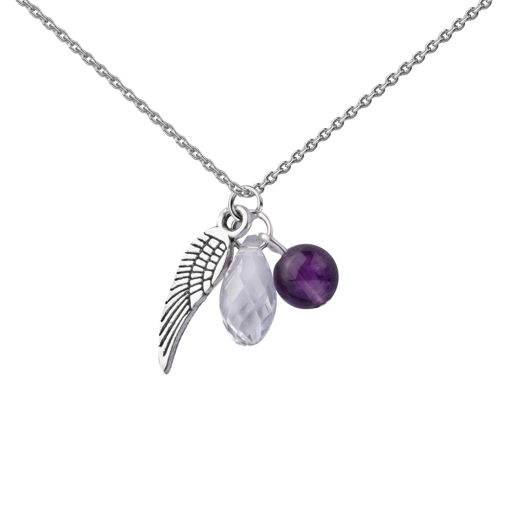 Angel Wing | Cluster Necklace | Sterling Silver