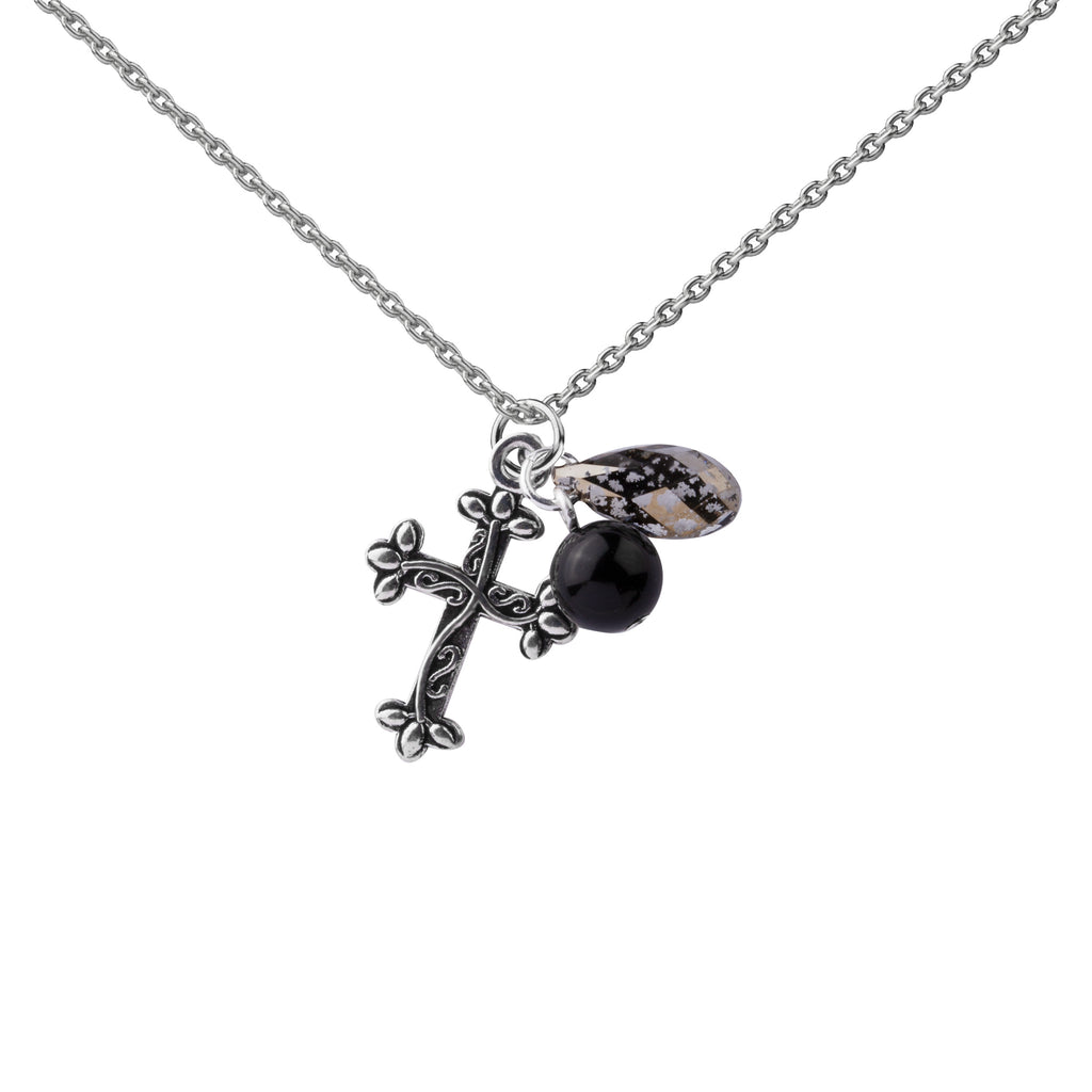 Cross | Cluster Necklace | Sterling Silver