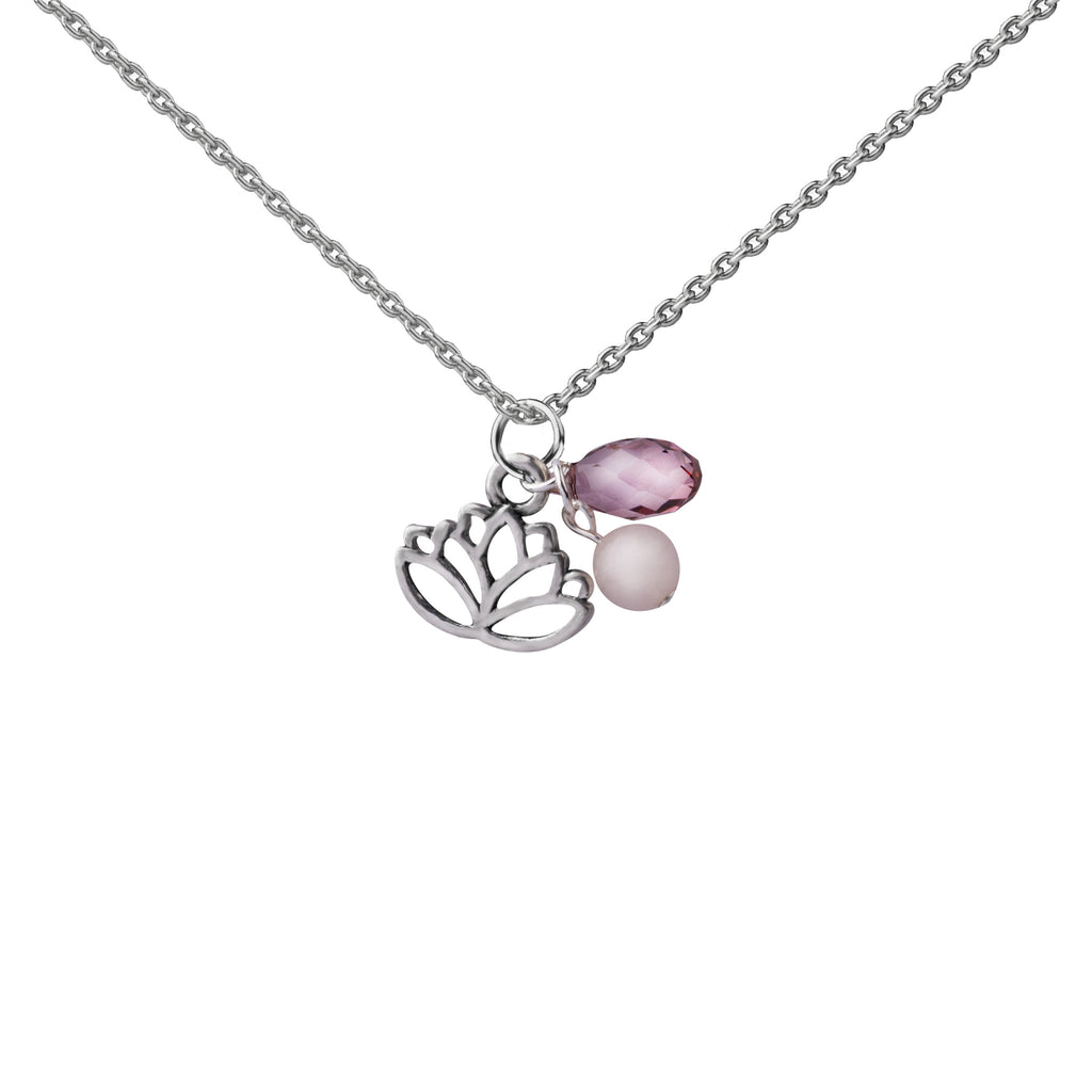 Lotus | Cluster Necklace | Sterling Silver