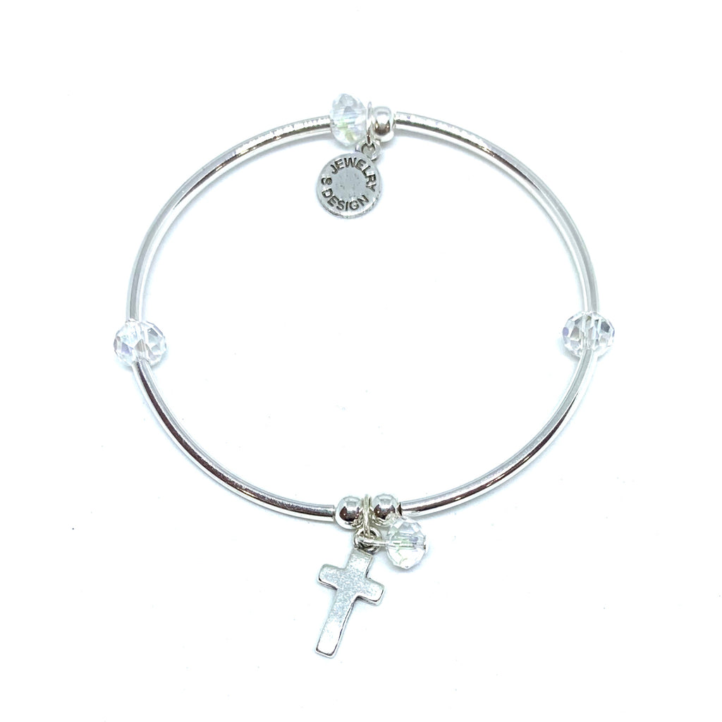 Cross | Bracelet | Childrens | Clear Crystal
