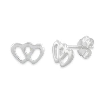 Earring | Mini Post | Double Heart