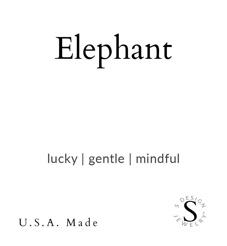 Elephant | Stone Beaded Charm Bracelet | Amazonite