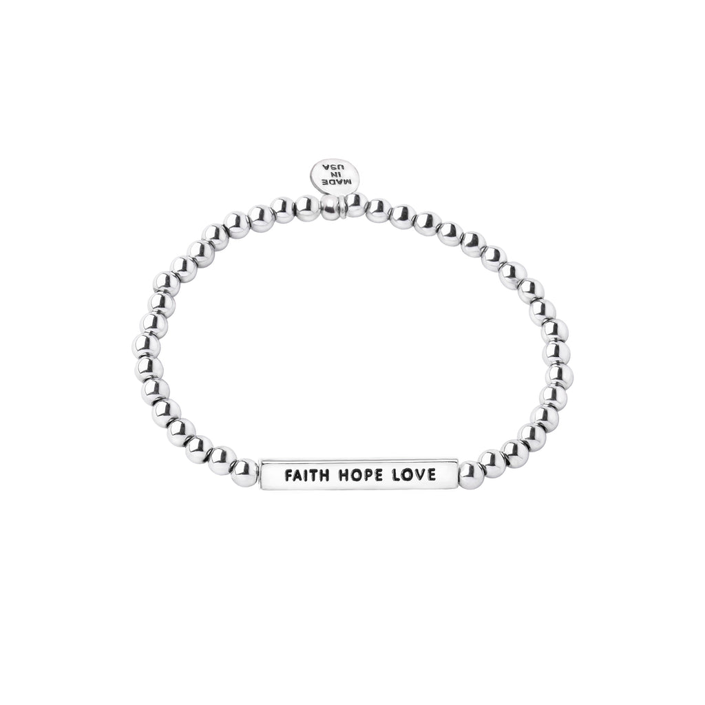 Intention Word Bracelet | Faith Hope Love
