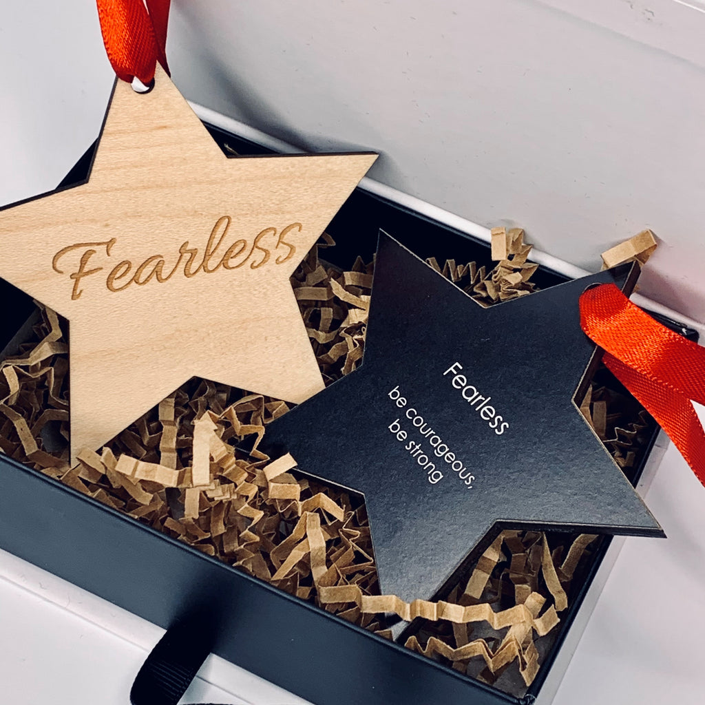 "Ornament | Fearless - ""be courageous, be strong"""