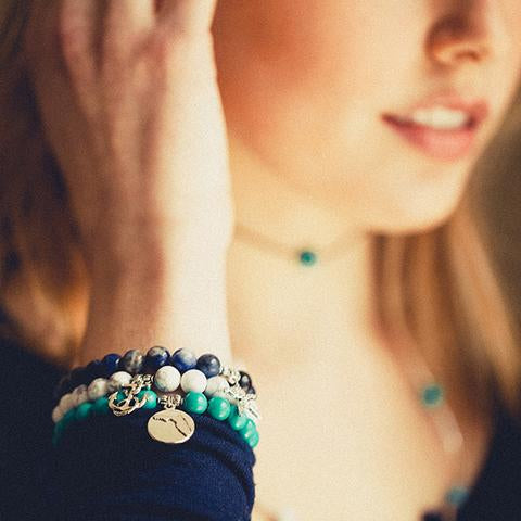 Florida | Bangle Charm Bracelet | Turquoise - Protection