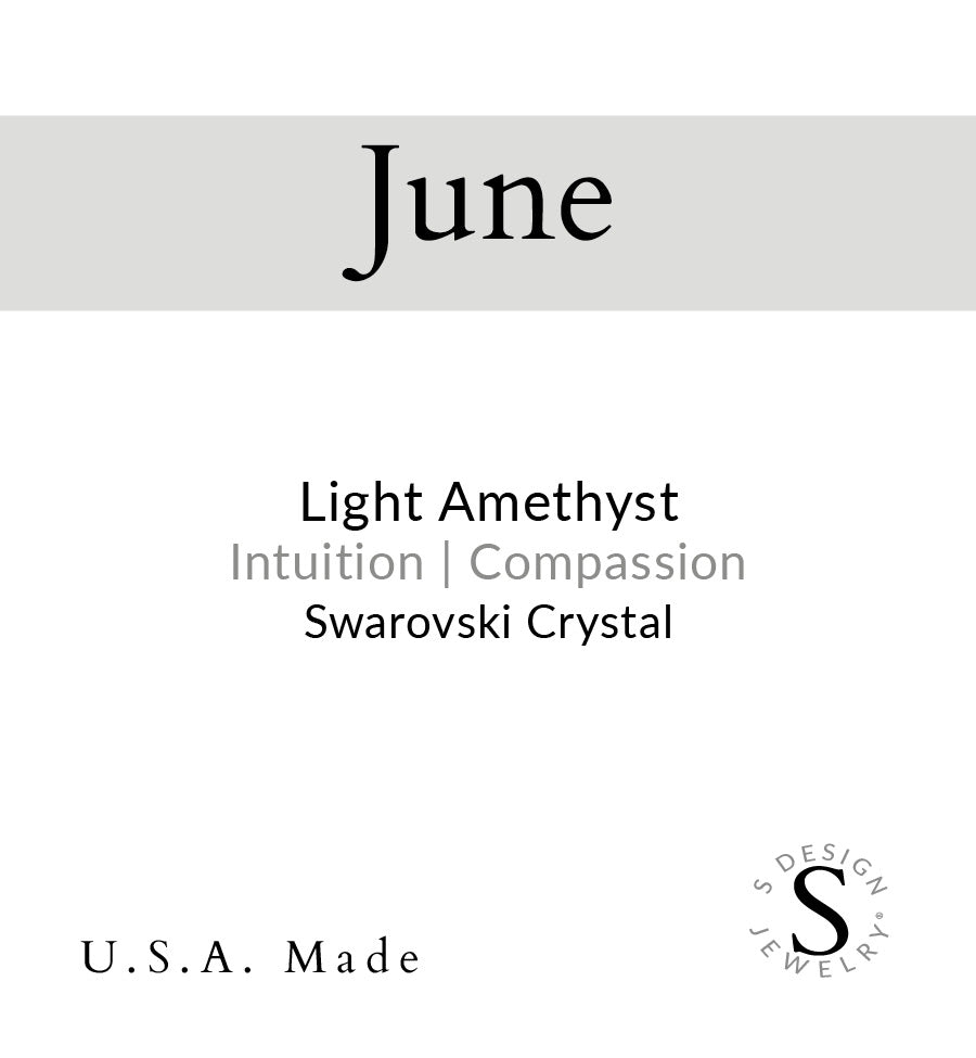 Birthstone | Necklace | June - Light Amethyst