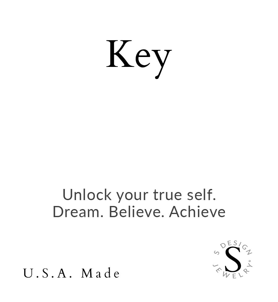 Key | Little Layer Necklace | Sterling Silver