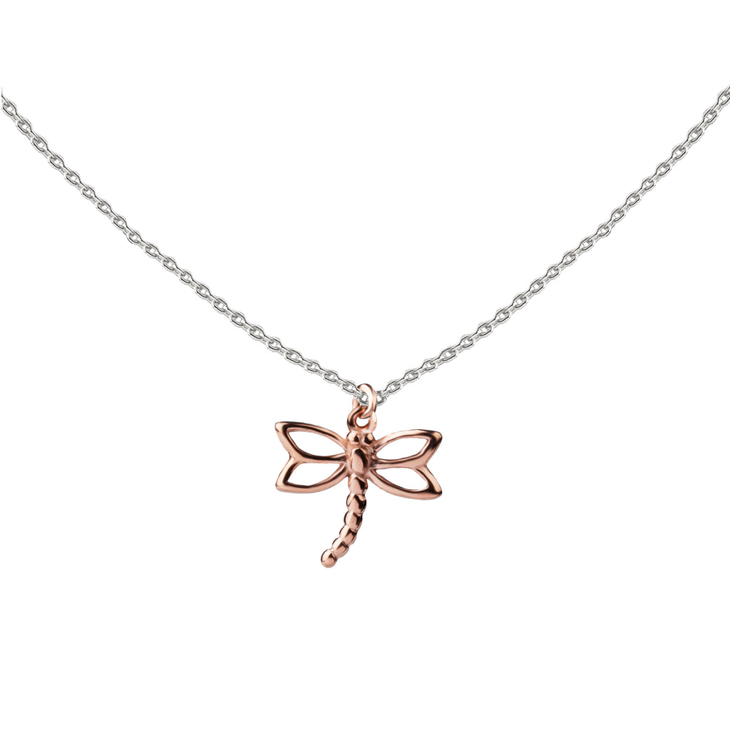 Dragonfly | Little Layer Necklace | Rose Gold