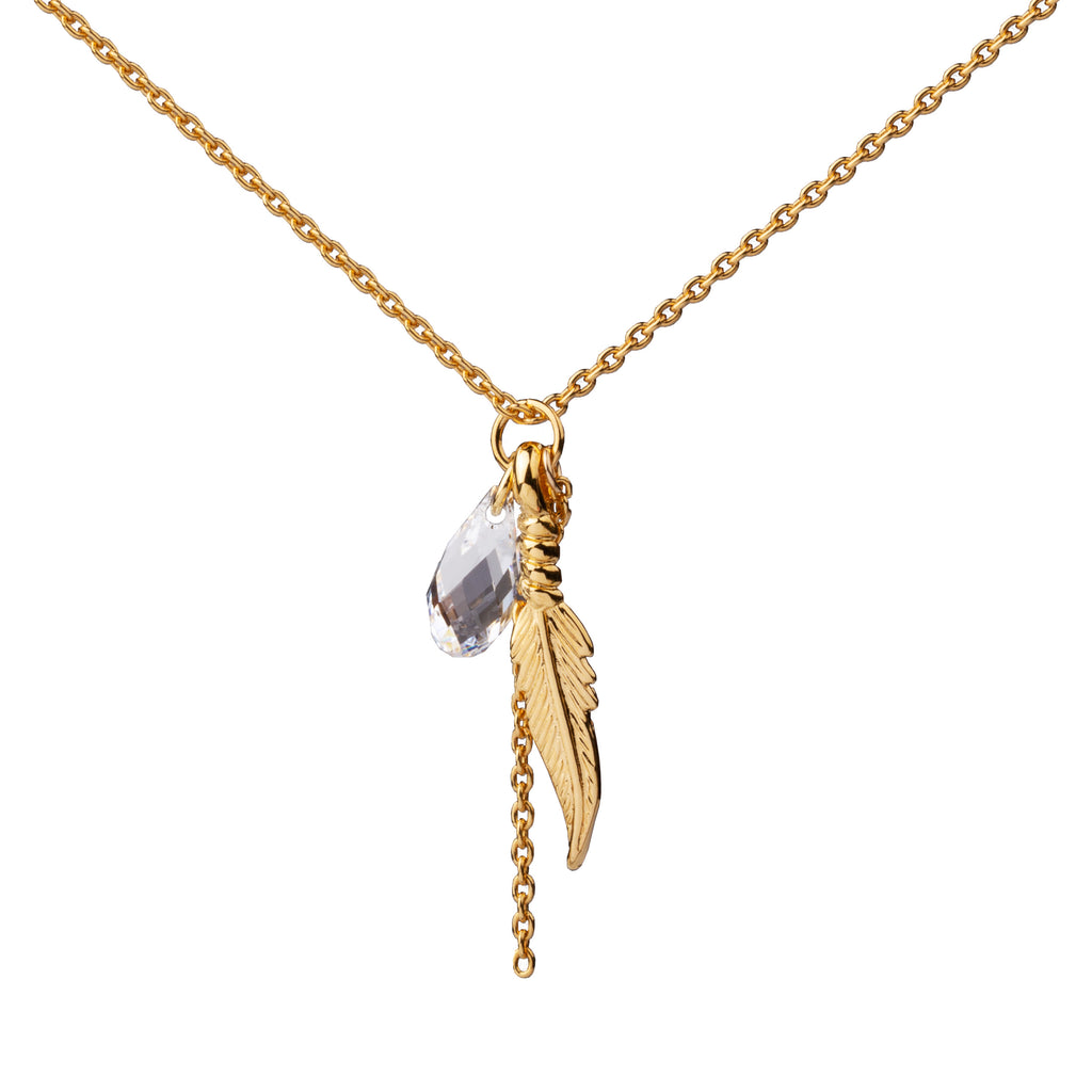 Feather | Little Layer Necklace | Gold