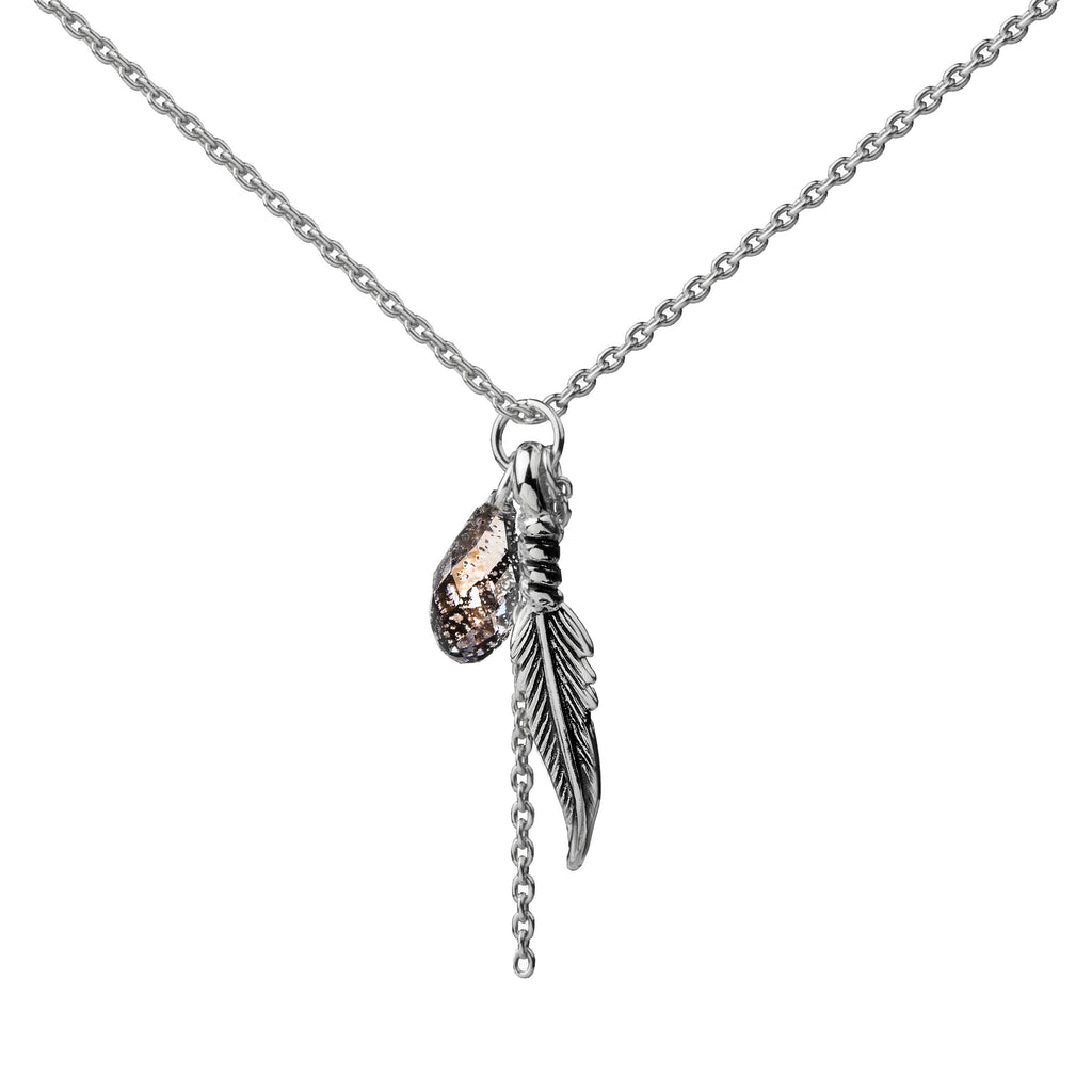 Feather | Little Layer Necklace | Sterling Silver