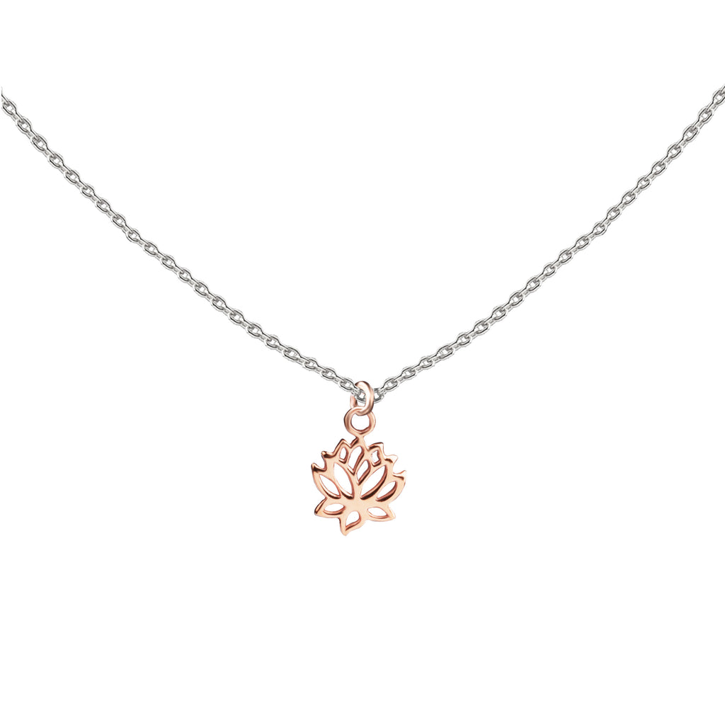 Lotus | Little Layer Necklace | Rose Gold