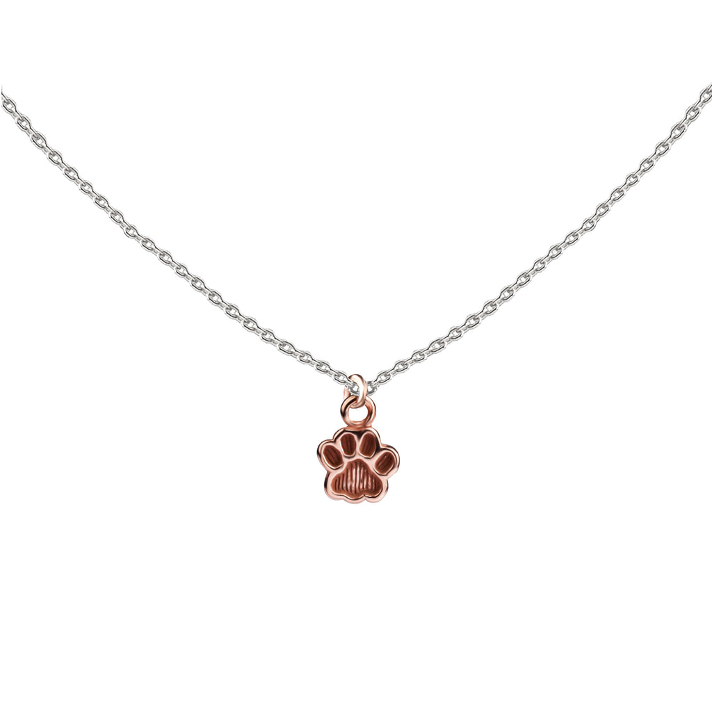 Paw Print | Little Layer Necklace | Rose Gold