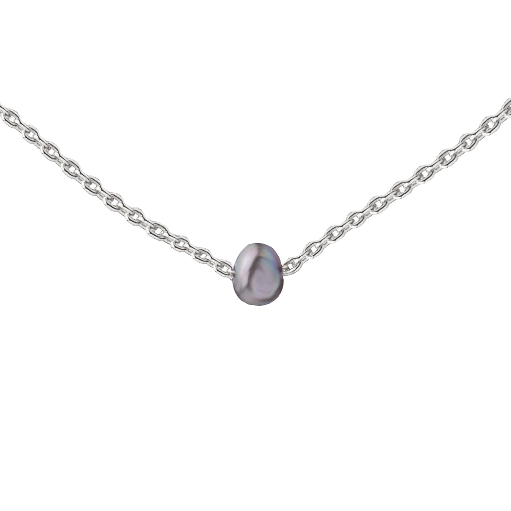 Pearl | Little Layer Necklace | Natural Gray