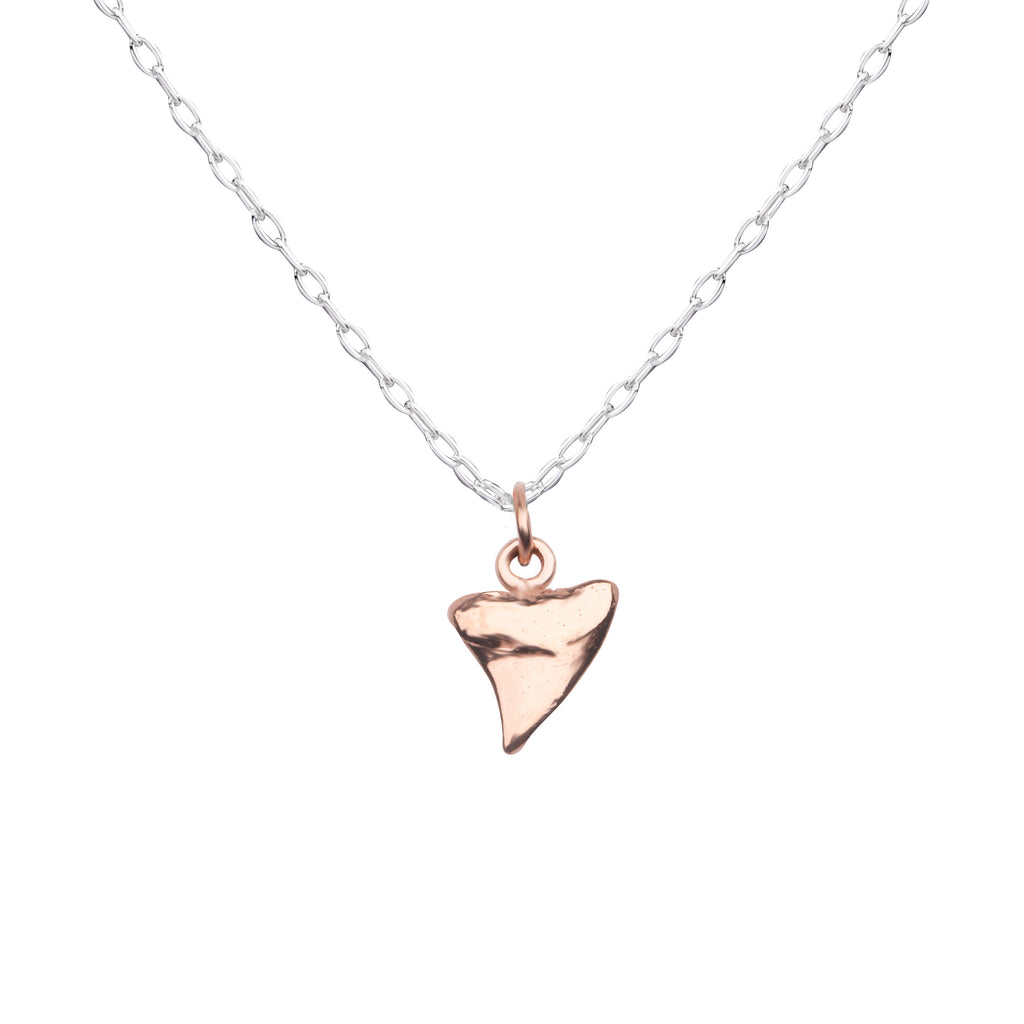 Shark Tooth | Little Layer Necklace | Rose Gold